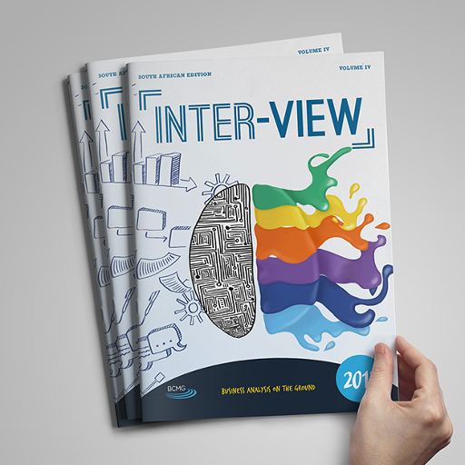 Person picking up a copy of the 2017 Inter-View Report